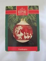 1990 Hallmark Christmas Keepsake Ornament Granddaughter Glass Ball QX2286 NIB