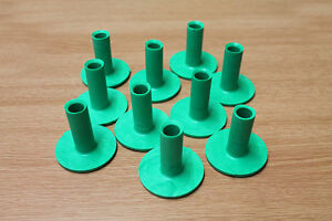 Pack of 10 Brand New Golf Rubber Tees - Green 50mm