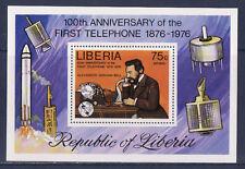 bloc Libéria  , 1er téléphone par alexander Graham Bell    neuf