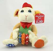 "LUV N' CARE ~ CIRCUS MONKEY WITH THREE RINGS ~ 12"" Educational Plush Doll ~ NEW"