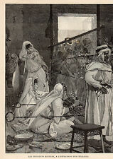PARIS EXPO UNIVERSELLE ESPLANADE INVALIDES TISSEUSES KABYLES ALGERIE IMAGE 1889