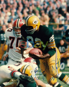 Elijah Pitts Green Bay Packers Auto Signed 8x10 Photo Super Bowl SB I & II repri