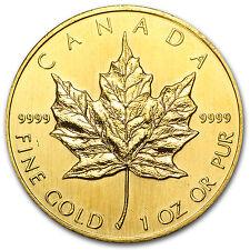 1990 Canada 1 oz Gold Maple Leaf BU - SKU #74657