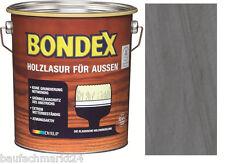 Bondex Holzlasur für Aussen Dunkelgrau 4 L Holzschutz Lasur