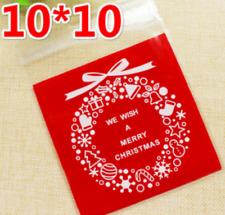 20 Piezas Galletas dulces Galletas Adhesivo de Navidad de plástico bolsas de regalo 10 cm B036