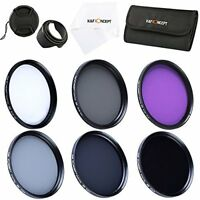 K&F 58MM Filter Kit UV CPL FLD + ND 2 4 8 for Canon Rebel T6i T6s T5i T5 T4i T3i