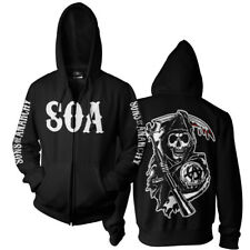 Licensed Sons Of Anarchy - SOA Reaper BIG & TALL 3XL, 4XL, 5XL Zipped Hoodie