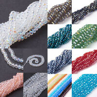 10Strds(1000pcs) Glass Beads Imitate Austrian Crystal Faceted Abacus Beads 6mm