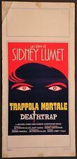 Locandina TRAPPOLA MORTALE1°ED.ITAL.1986 MICHAEL CAINE CHRISTOPHER REEVE MGM