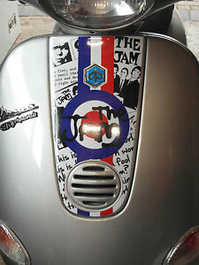 The Jam Horn Cover Cast Graphic Sticker Fits Vespa ET4 ET2 Mod Decal HC5