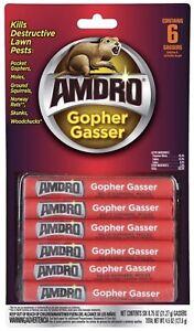 🔥(6-PACK) Amdro Gopher Gassers Kills Gophers Moles Rats Woodchucks Skunks NEW
