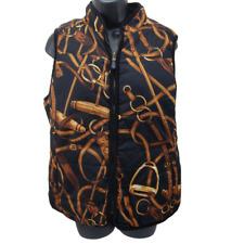 Lauren Ralph Lauren Women's Reversible Vest Size Large Quilted Equestrian Jockey