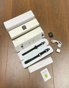 Apple Watch Series 6 44mm Space Grey Aluminum Case with Black Sport Band - Regu…