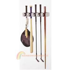 5 Rack Kitchen Mop Broom Holder Wall Mounted Organizer Brush Storage Hanger Tool