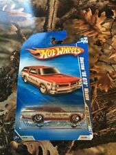 Hot Wheels 2010 Custom 66 Gto Wagon New In Package Red & Silver Crome Bumpers.