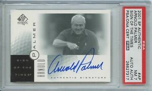 Arnold Palmer 2001 SP authentic sign of the times signed auto autograph PSA 7