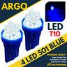 Bright Led Xenon power Side Light 501 194 W5w 158 168 T10 Super Blue Bulbs 12v