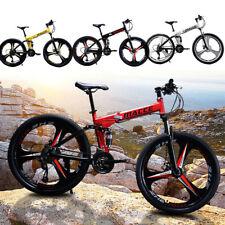 26 Zoll Karbonstahl Mountainbike 21 Gang Fahrrad Vollfederung MTB
