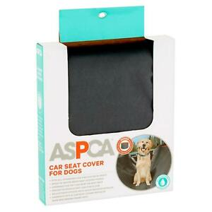 New ASPCA Car Seat Cover for Dogs, Dark Gray Fits All Standard Car & SUV Seats