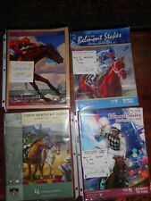 Lot of 4 Official Racing Programs (2) Kentucky Derby / (2) Belmont Stakes