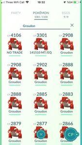 Pokemon  Legendary Go Groudon Same Day Trade Or 30 Day
