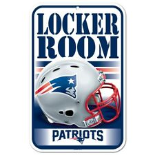 WinCraft NFL NEW ENGLAND PATRIOTS Locker Room Schild NEU/OVP