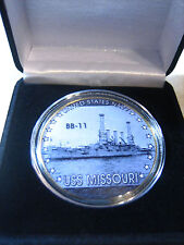 US NAVY - USS Missouri (BB-11) Challenge Coin w/ Presentation Box