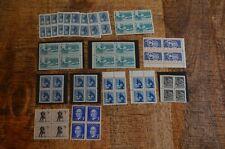 Canada Stamp Blocks 1957-62 Congress BC Geophysical Mining Education Meighen MNH