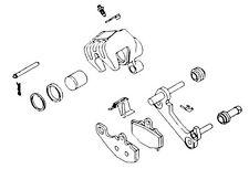 K&L Supply Rear Brake Caliper Rebuild Kit for Honda ATC250R 1985-1986