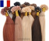 50/100/200 EXTENSIONS DE CHEVEUX POSE A CHAUD 100% NATUREL REMY HAIR 49/60CM 3A+