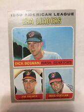 1970 Topps American League Era Leaders. Palmer, Bowman And Cuellar.