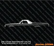 2X Car silhouette stickers - for Chevrolet El Camino (1968-1972) 3RD GEN classic