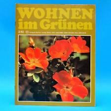 DDR Wohnen im Grünen 2/1982 Verlag für die Frau R Bitterfeld Forst Balkonblumen