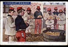 MILITAIRE à la CORVEE illustré par GUILLAUME en 1917 / Publicité CHOCOLAT MENIER