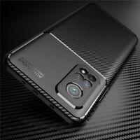For Xiaomi Mi 10T Pro 5G 10T Lite 5G Slim Silicone Carbon Fiber Soft Case Cover