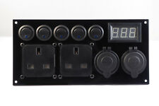 Ford Transit Custom Switch Panel 12V/240V 2.1A USB Battery Monitor Control Panel