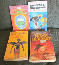 4 book lot frank herbert soul catcher the eyes of heisenberg green brain of dune