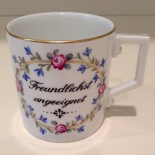 Hochst J.W. Von Goethe Hand-Painted Porcelain Cup #5 Made in Germany New