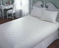 NEW QUILTED MATTRESS MATTRESS PROTECTOR FITTED BED COVER:ALL SIZES DOUBLE KING
