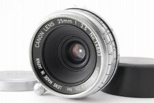 【B V.Good】 Canon 25mm f/3.5 MF Lens for Leica L39 Screw w/ Caps From JAPAN R3394