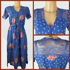 New Women's New Look Occasion Dress Floral Print Blue Summer Size 6 - 18