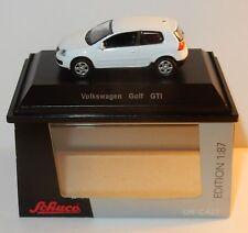 MICRO METAL ALUMINIO FUNDIDO SCHUCO HO 1/87 VW VOLKSWAGEN GOLD GTI BLANCO EN BOX