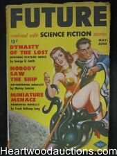 Future May  1950 #1  Earle K. Bergey cover;