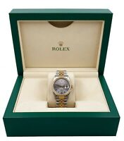 Rolex Datejust 16233 Silver Arabic Dial 18K Yellow Gold Stainless Steel