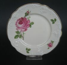Rosenthal Kronach, Kuchenteller, rote Rose, Elfenbein