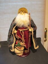 """Santa Claus Bearded Hand Made Crafted Brocade Cape 16"""" Tall Victorian Style Tj?"""