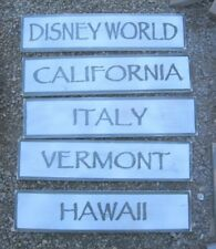 HAND PAINTED CUSTOM LOCATION- CITY- STREET-LAKE-BEACH-STATE  SIGN RUSTIC SIGN