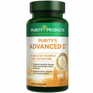 Purity Products Dr. Cannell's Advanced Vitamin D Formula 60 Veg Cap New exp 1/23