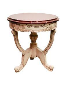 Mahogany wood pedestal table