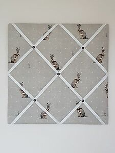 Cottage Style Memo Board Noticeboard Hartley Hare Rabbit Country Nursery Office